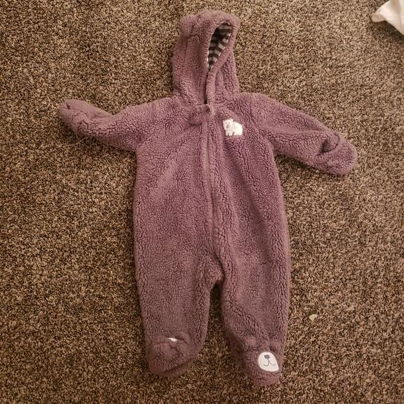 Baby bear fuzzy suit